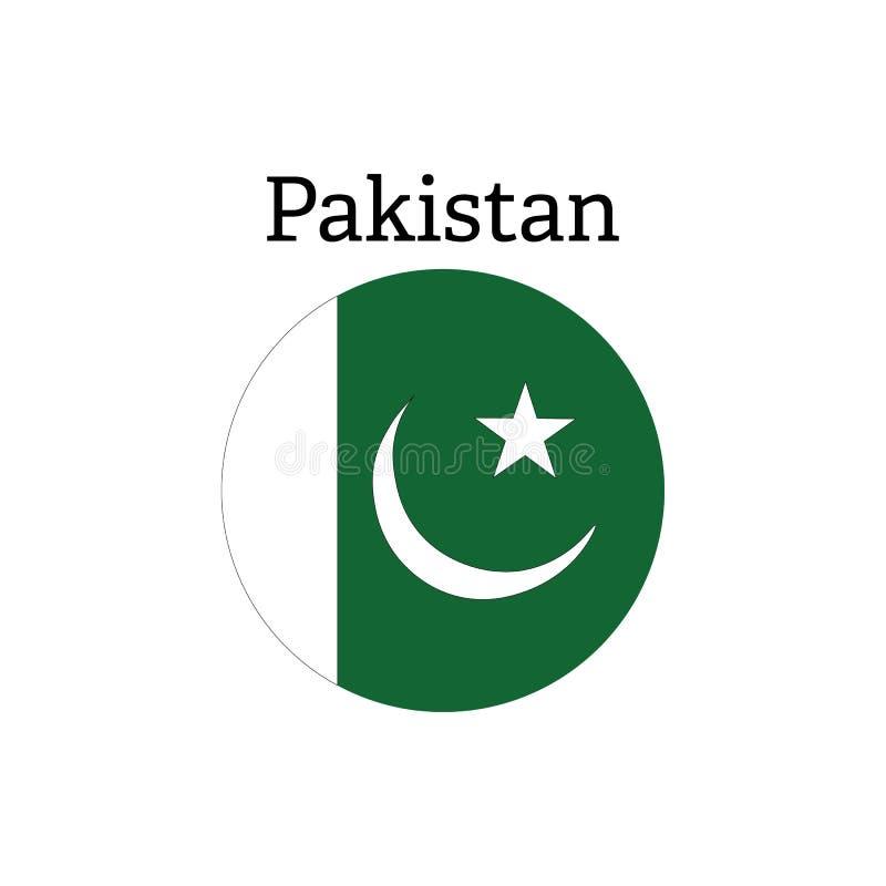 Pakistan flaga ikona ilustracji