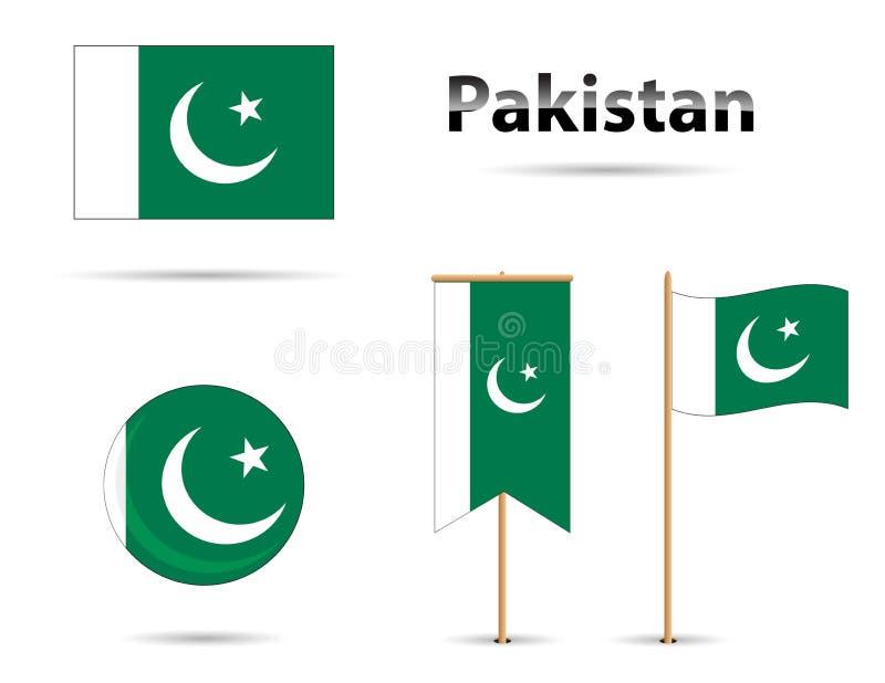 Pakistan-Flaggen stockbilder