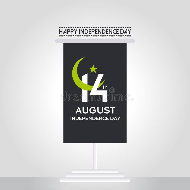 Pakistan Independence Day Typography Design. Creative Typography of 73rd Happy Independence Day of Pakistan Vector Template Design stock images