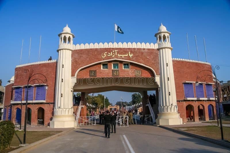 Pakistan - India border gate royalty free stock images