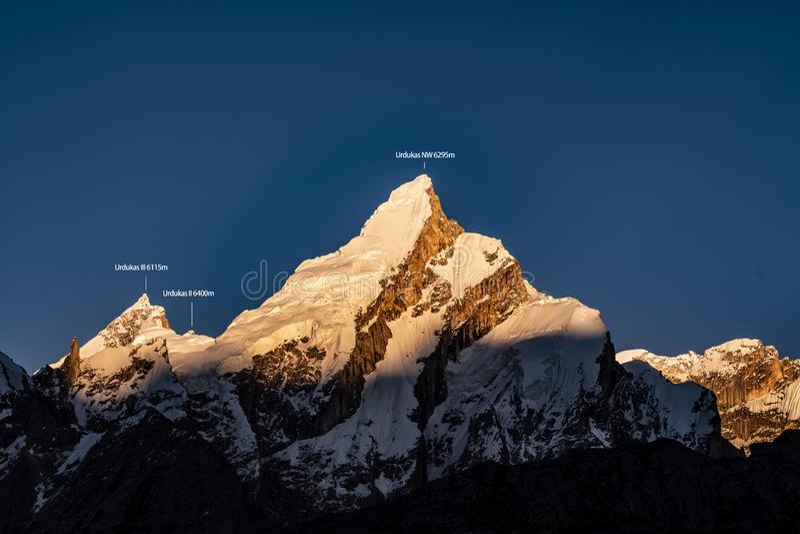 Pakistan Karakoram K2 som trekking royaltyfria foton