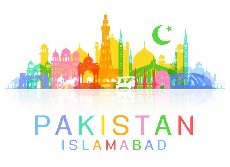 Pakistan loppgränsmärken stock illustrationer