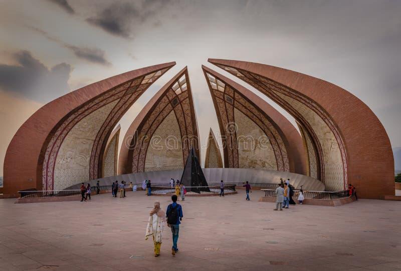 Pakistan monument i Islamabad i April royaltyfri fotografi
