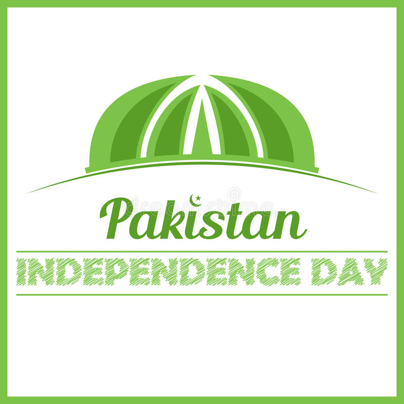 Pakistan monument independence day card stock illustration