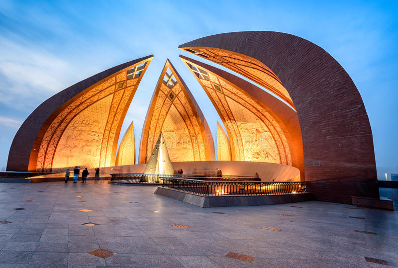 Pakistan-Monument Islamabad stockfoto