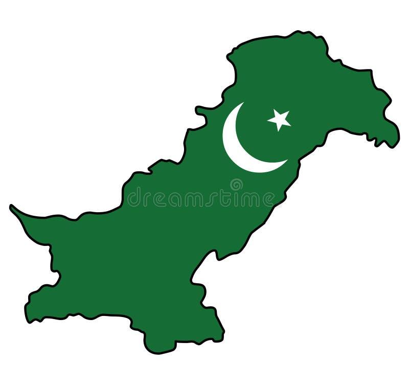 pakistan Pakistansk vektorillustration för översikt stock illustrationer
