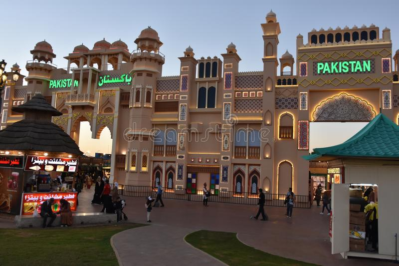 Pakistan pavilion at Global Village in Dubai, UAE. As seen on Dec 11, 2018. It is claimed to be the world`s largest tourism, leisure and entertainment project royalty free stock photos