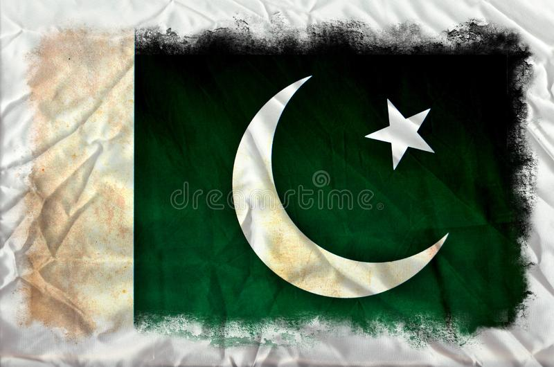 Pakistan-Schmutzflagge stockfotos
