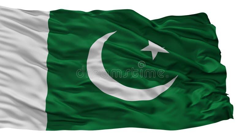 Pakistan stadsflagga, Pakistan som isoleras på vit bakgrund vektor illustrationer