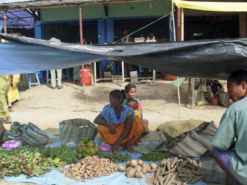 Pakistan street market stock images