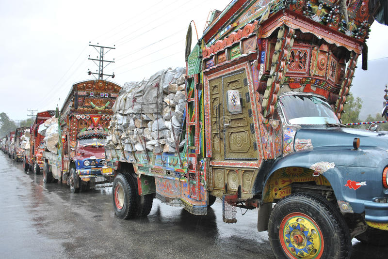 Pakistan Truck Art and Marbal Supply royalty free stock photography