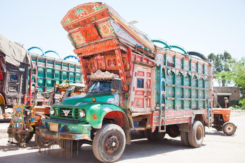 Pakistani decorated truck royalty free stock image