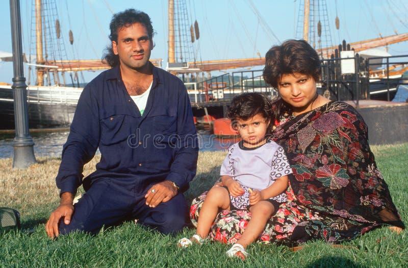 A Pakistani family royalty free stock photography