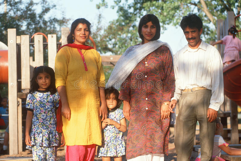 A Pakistani family stock photos