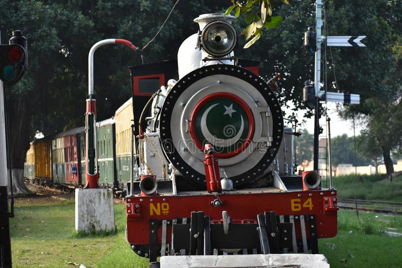 The Old Train Engine looks Amazing. A Pakistani Old Train Engine Looks Very AmazingrnAnd Its Very Old 1956 stock images
