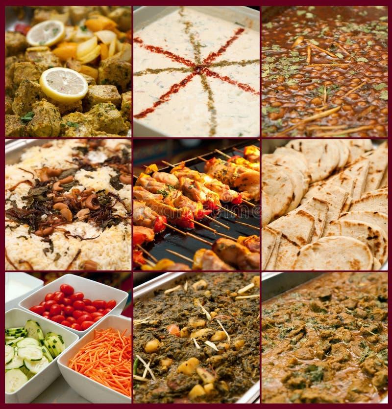 Pakistani wedding meal stock photo