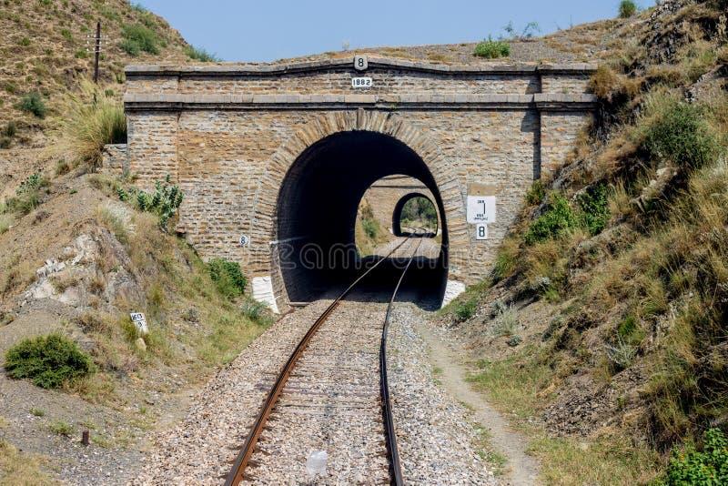 Pakistansk järnväg linje ingen bro för sikt: 8 Nowshera till den tokiga swabien arkivbilder