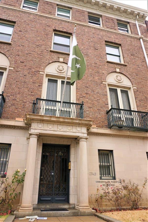Pakistansk uppehåll för ambassad i Washington DC arkivbild