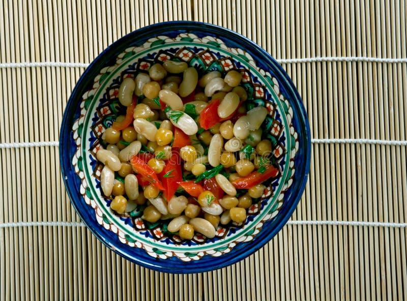 Pakistanska blandade Bean Salad royaltyfria foton