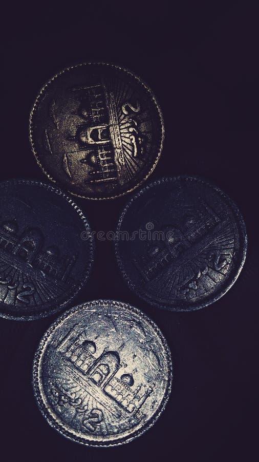 Pakistanska mynt royaltyfri bild