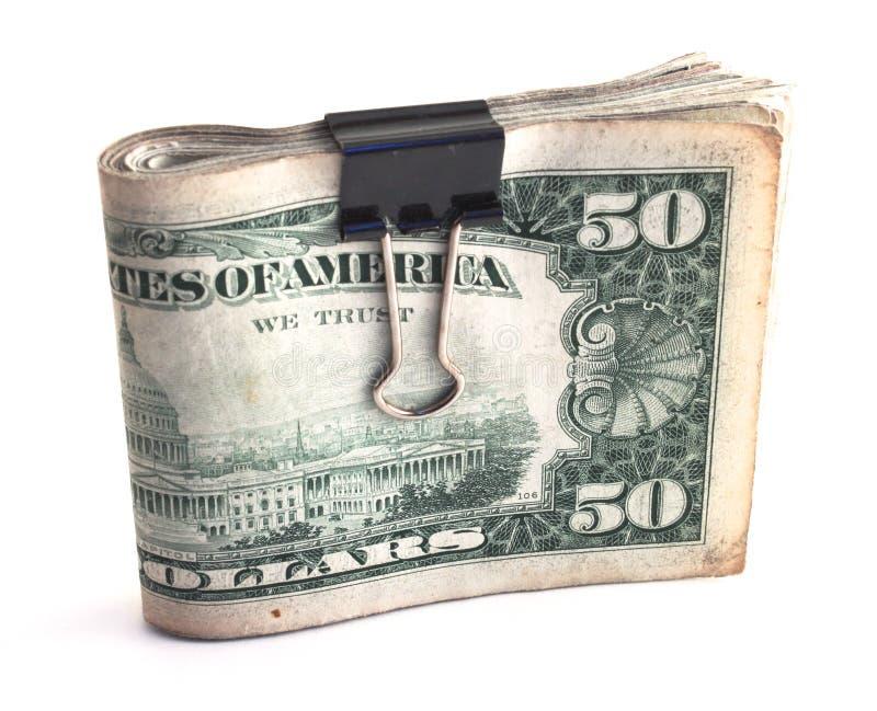 Pakje van contant geld stock fotografie