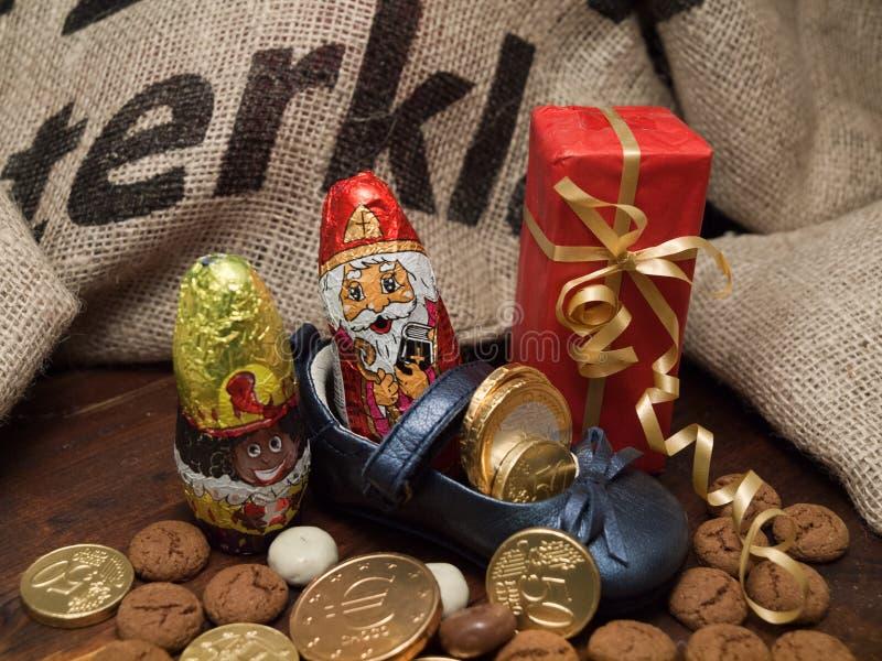 Pakjesavond, ημέρα του Άγιου Βασίλη στοκ εικόνα