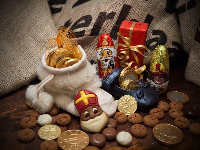 Pakjesavond, ημέρα του Άγιου Βασίλη στοκ εικόνες με δικαίωμα ελεύθερης χρήσης