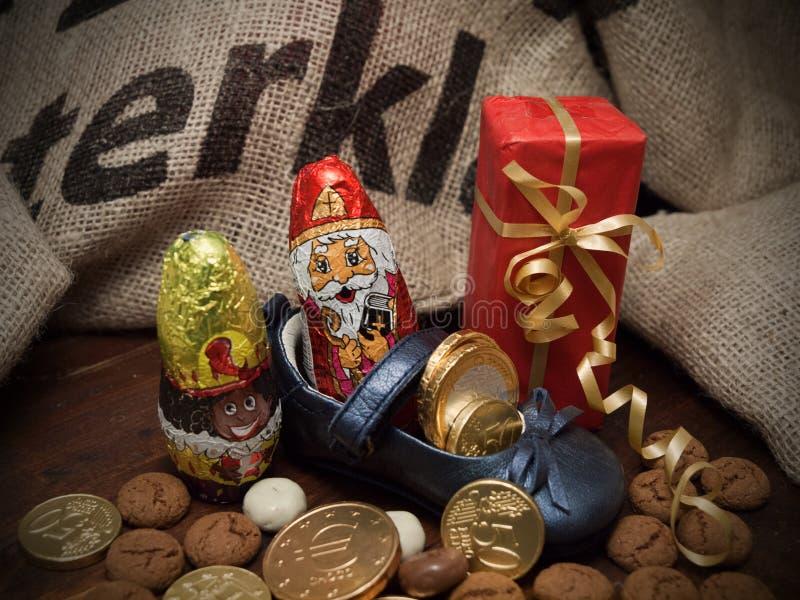 Pakjesavond St Nicholas Day royaltyfri fotografi