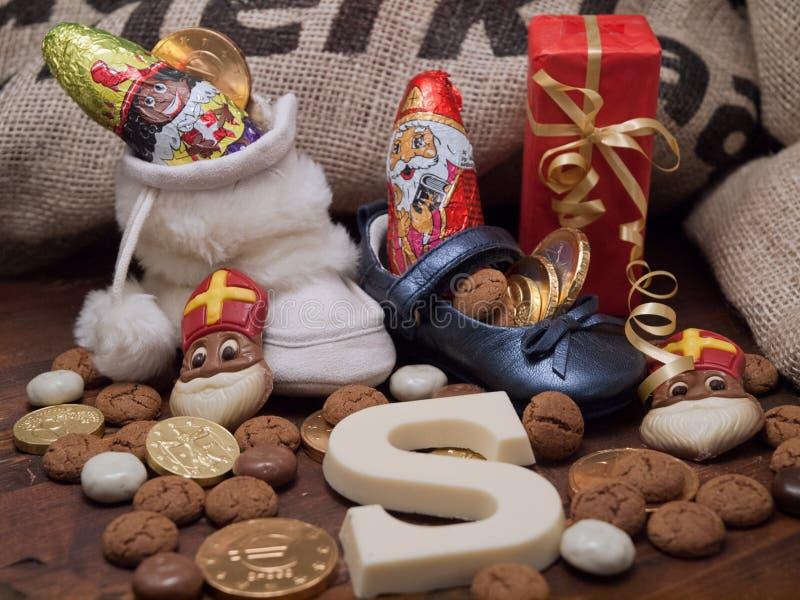 Pakjesavond St Nicholas Day arkivbilder
