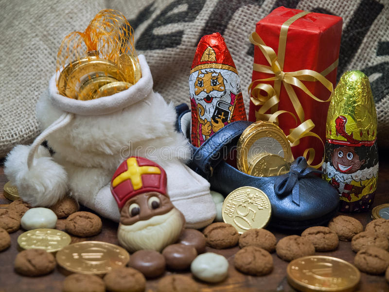 Pakjesavond St Nicholas Day royaltyfri foto