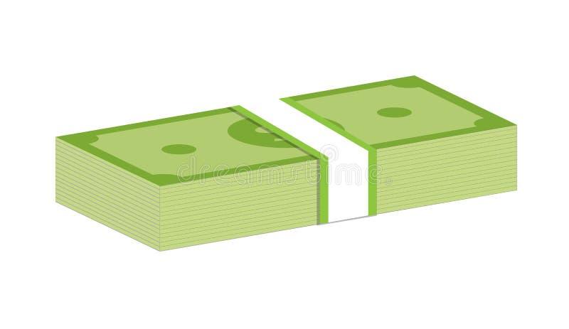 Pakken van dollarsgeld royalty-vrije illustratie