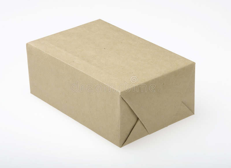 Pakket in Pakpapier royalty-vrije stock foto's