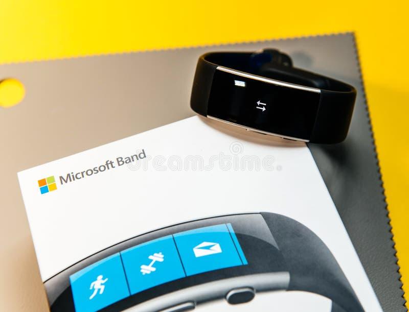 Pakketdoos van Microsoft-band 2 stock foto
