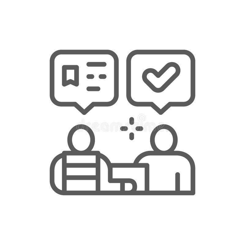 Pakketlevering aan ontvanger, het pictogram van de logistieklijn royalty-vrije illustratie