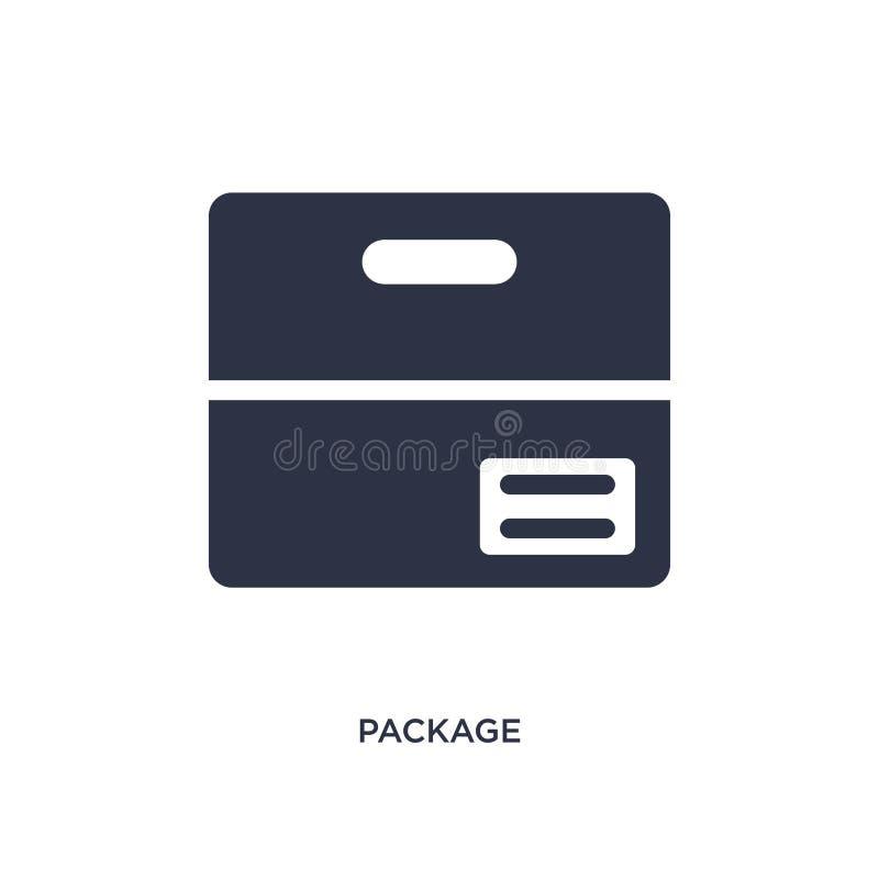 pakketpictogram op witte achtergrond Eenvoudige elementenillustratie van levering en logistisch concept stock illustratie
