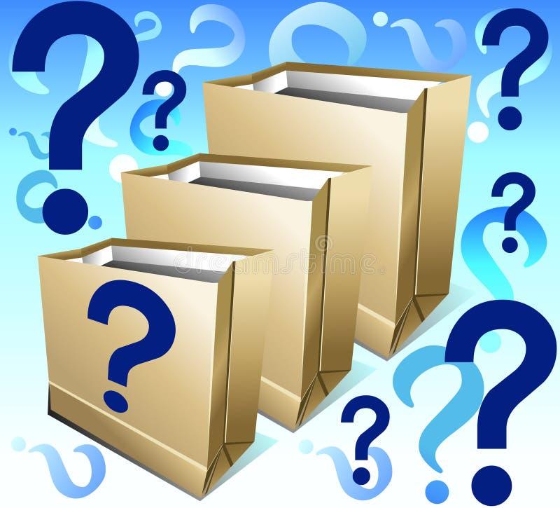 Pakketten met vraag royalty-vrije stock fotografie