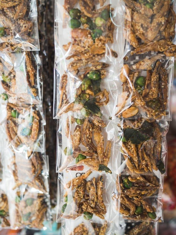Pakketten van droge zeevruchten stock foto