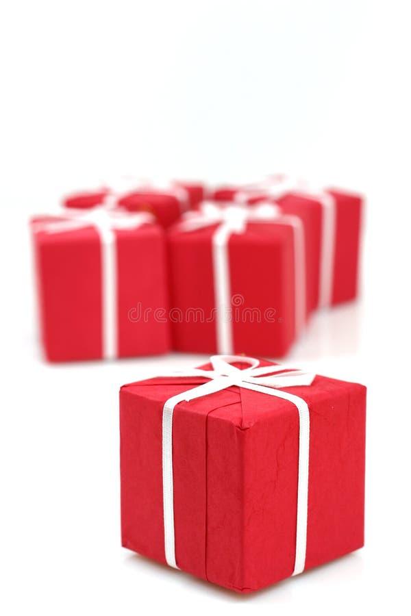 Pakketten van Kerstmisgiften royalty-vrije stock afbeeldingen