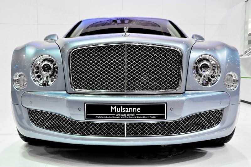 Bentley Mulsanne på landskampen Motorshow arkivbilder