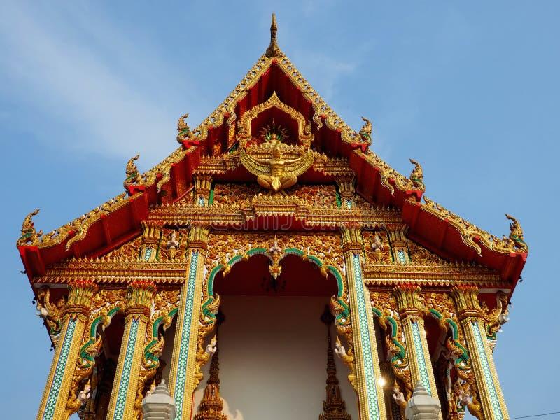 Wat Bo soaring into blue sky stock photos