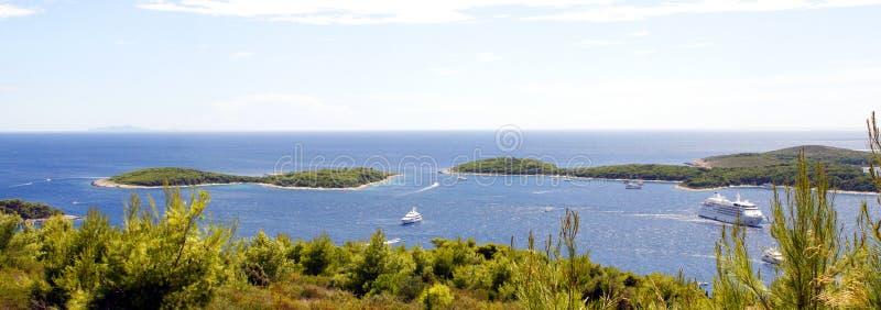 Pakleni Islands Nudist Beach HVAR Croatia Stock Photo