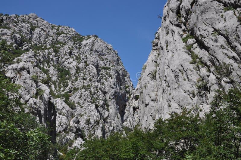 Paklenica-Schlucht, Kroatien photos stock