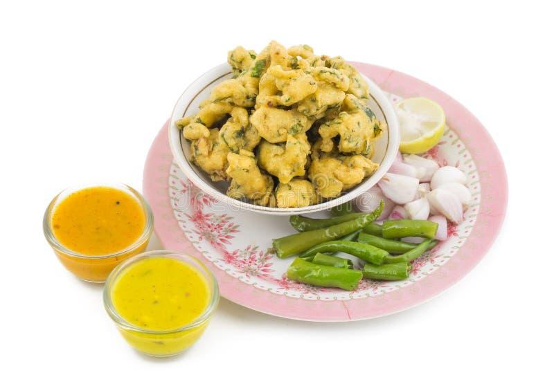 Pakora или Bhajiya стоковые фотографии rf