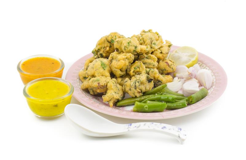 Pakora or Bhajiya stock images