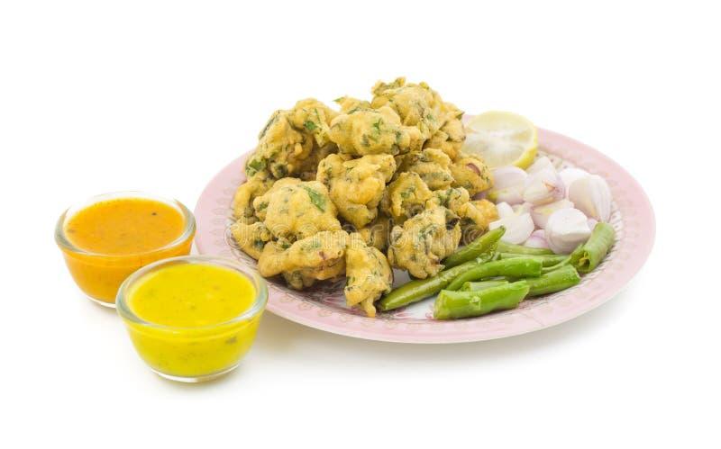 Pakora or Bhajiya stock image