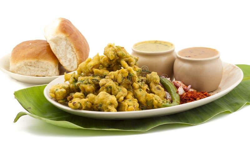 Pakora or bhajji. Indian special traditional fried food Pakora and chutney stock image