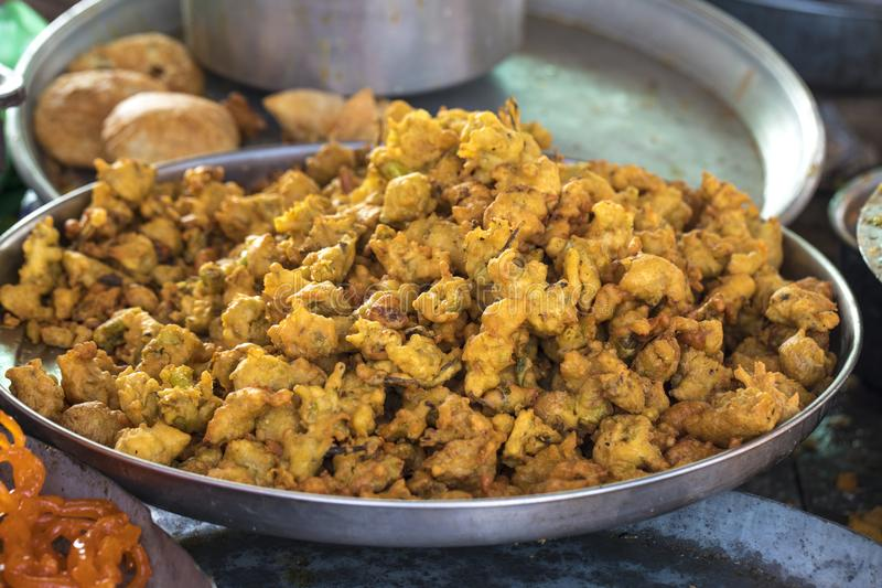 Pakora o Bhajiya fotos de archivo