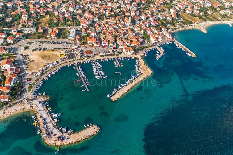 Download Pakostane aerial stock image. Image of adriatic, coastline - 27853509