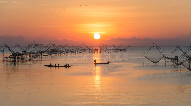 Pakpra风景看法及早在美好的早晨 免版税库存照片