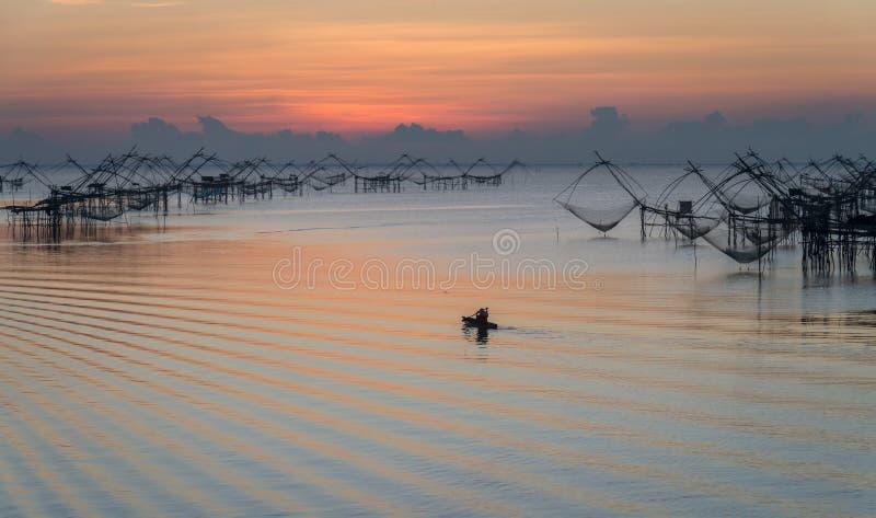 Pakpra风景看法及早在美好的早晨 免版税库存图片